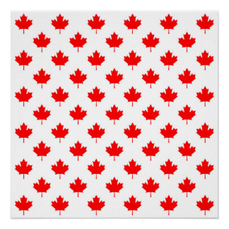 canada country flag symbol maple leaf pattern text poster