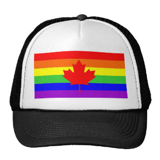 canada country gay proud rainbow flag homosexual trucker hat