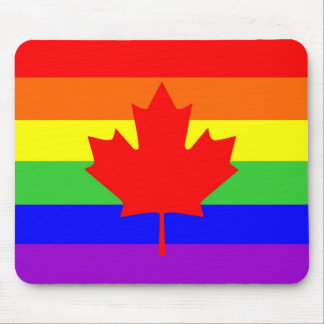 canada country gay proud rainbow flag mouse pad