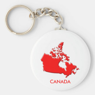 Canada country outline bevelled edge keychain