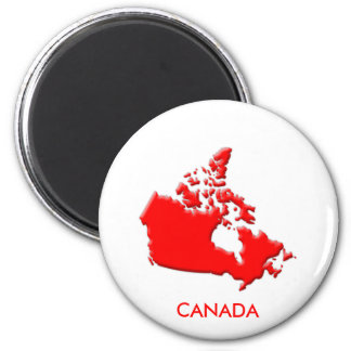Canada country outline bevelled edge magnet
