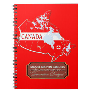 Canada country outline Flag Colors Modern Notebook