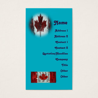Canada Create Your Own Business Card