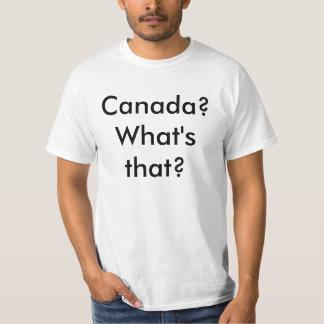 ¿Canadá? ¿Cuál es ése? Playeras