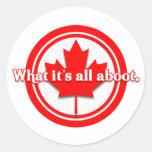 Canadá cuál es todo el Aboot Etiqueta Redonda