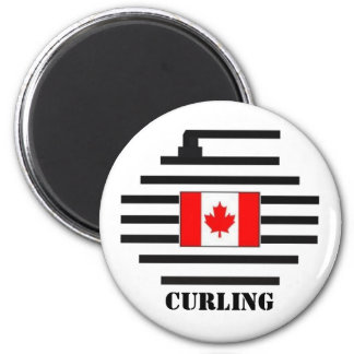 Canada Curling 2 Inch Round Magnet