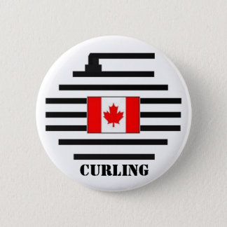 Canada Curling Pinback Button