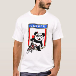 Men's Basic T-Shirt with Canada Cycling Panda design