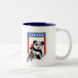Two-Tone Mug with Canada Cycling Panda design