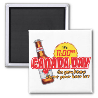 Canada Day 11 2 Inch Square Magnet