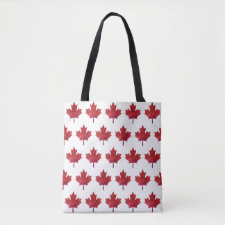 Canada Day 2017 Maple Leaf Pattern Tote Bag
