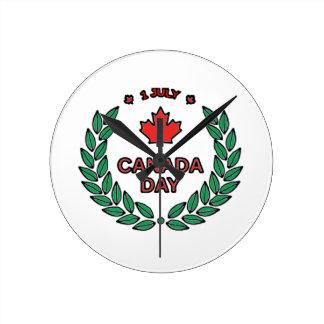 Canada Day 2 Round Clock