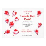 Canada Day Balloons Custom Invitation