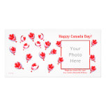 Canada Day Balloons Photo Card Template
