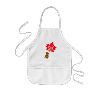 Canada Day Beaver and Maple Leaf Aprons