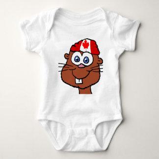 Canada Day Beaver Baby shirt 4