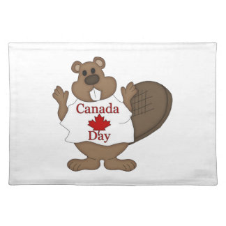Canada Day Beaver Home Decor Cloth Placemat
