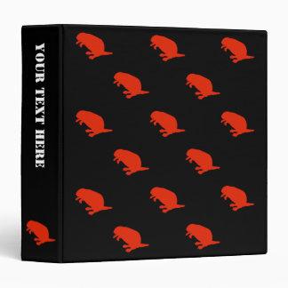 Canada Day Beaver Red Black Pattern Binder