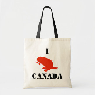 Canada Day Beaver Red Budget Tote Bag
