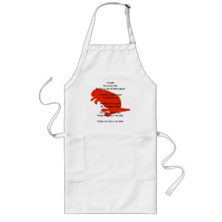 Canada Day Beaver Red French Anthem Apron
