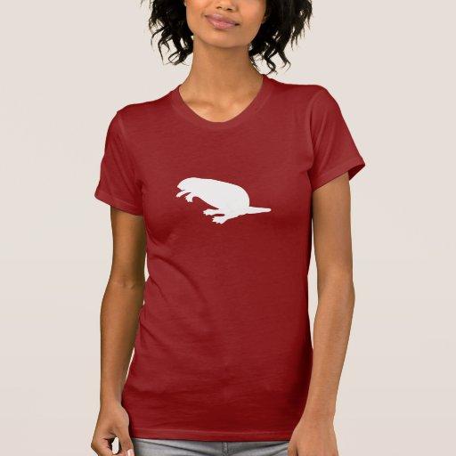 Canada Day Beaver White Anthem Ladies Petite Shirt