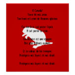 Canada Day Beaver White French Anthem Poster