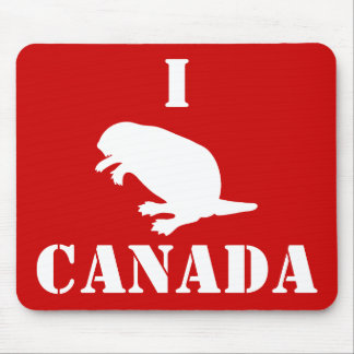 Canada Day Beaver White Red Mousepad