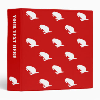 Canada Day Beaver White Red Pattern Binder