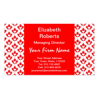 Canada Day Canadian Maple Leaf and Heart Business Card Template