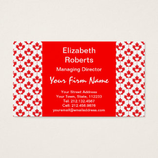 Canada Day Canadian Maple Leaf and Heart Business Card
