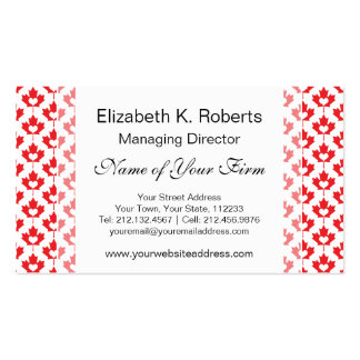 Canada Day Canadian Maple Leaf and Heart Business Cards