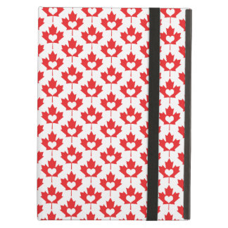 Canada Day Canadian Maple Leaf and Heart Case For iPad Air