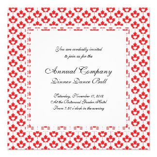 Canada Day Canadian Maple Leaf and Heart Personalized Invites