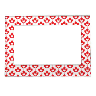 Canada Day Canadian Maple Leaf and Heart Magnetic Frame
