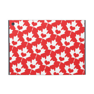 Canada Day Canadian Maple Leaf Heart Pattern Cover For iPad Mini
