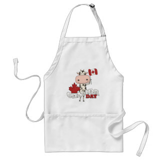 Canada Day Cow Adult Apron