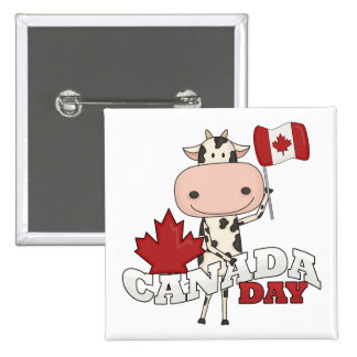 Canada Day Cow Buttons