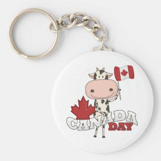 Canada Day Cow Keychain