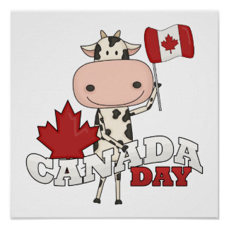 Canada Day Cow Poster