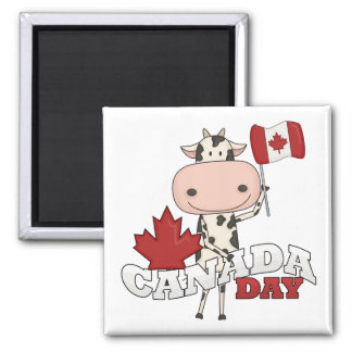 Canada Day Cow Refrigerator Magnets