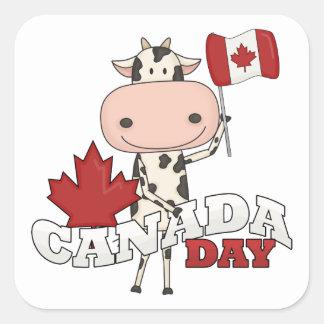 Canada Day Cow Sticker