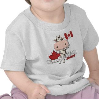 Canada Day Cow Tshirt