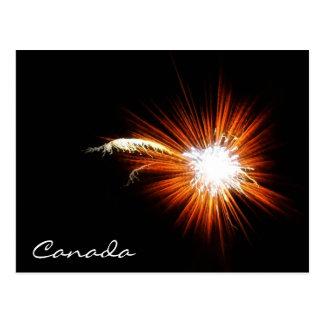 Canada Day Fireworks Postcard