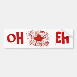 Canada Day Grungy Urban Car Bumper Sticker