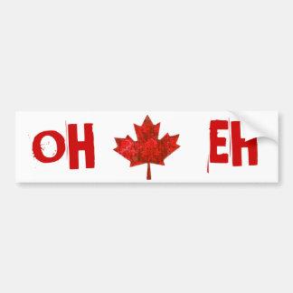 Canada Day Grungy Urban Maple Leaf Bumper Sticker