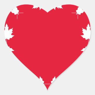 canada day heart sticker