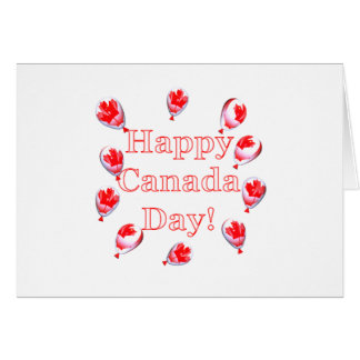 Canada Day Maple Leaf Balloons Card