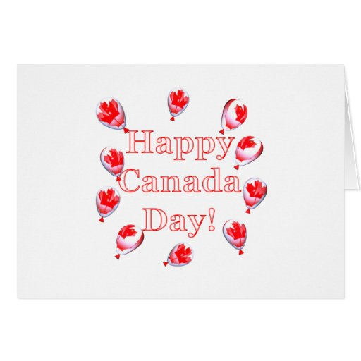 Canada Day Maple Leaf Balloons Greeting Cards Zazzle