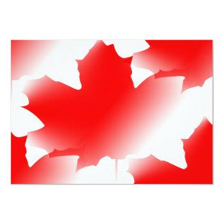 Canada Day - Maple Leaf Personalized Invite