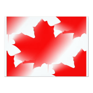 """Canada Day - Maple Leaf 5"""" X 7"""" Invitation Card"""